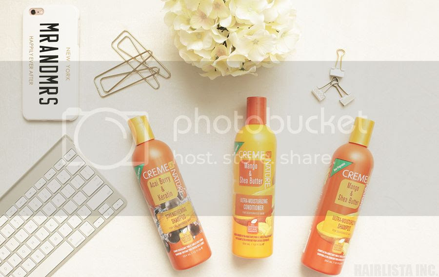 My First Impression: Creme of Nature Mango & Shea Butter and Acai & Keratin Product Line | on HairliciousInc.com