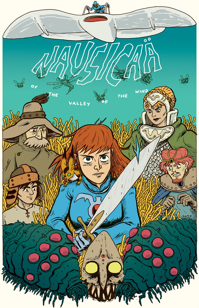 Nausicaa poster, colored