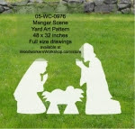 Manger Scene Yard Art Woodworking Pattern - fee plans from WoodworkersWorkshop® Online Store - manger scene,Joseph,Mary,Baby Jesus,yard art,painting wood crafts,scrollsawing patterns,drawings,plywood,plywoodworking plans,woodworkers projects,workshop blueprints