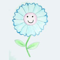 Aprender A Dibujar Dibujar Una Flor Azul Eshellokidscom