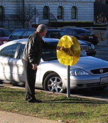 Street lollipops by Mark Jenkins