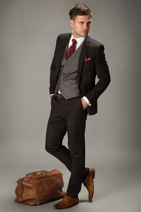 dark grey suit brown shoes wedding   Tuxedo Design   Suit