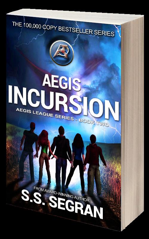 Book Cover for Aegis Incursion from sci fi fantasy series, Aegis League by S.S. Segran.