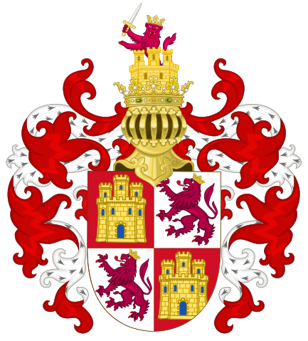 File:Arms of the Crown Castile with the Royal Crest.svg