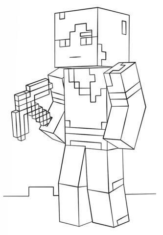 Dibujo De Alex De Minecraft Para Colorear Dibujos Para Colorear