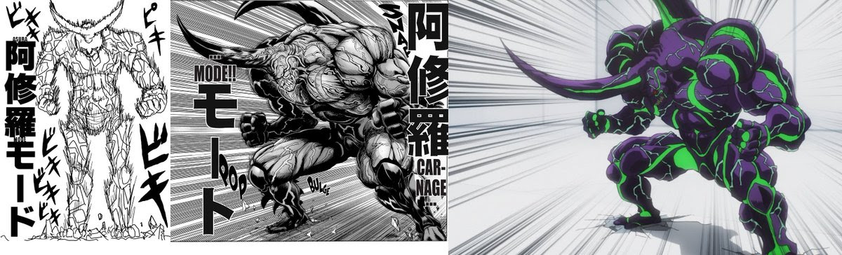 One Punch Man Comparisons Manga Webcomic Anime Onepunchman