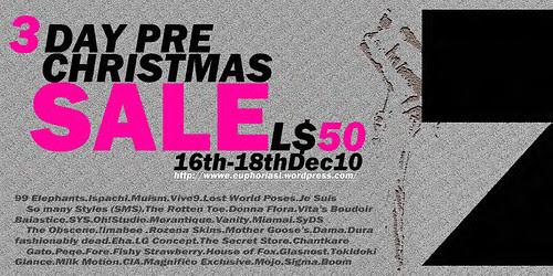 E U P H O R I A Xmas Sale Poster Final