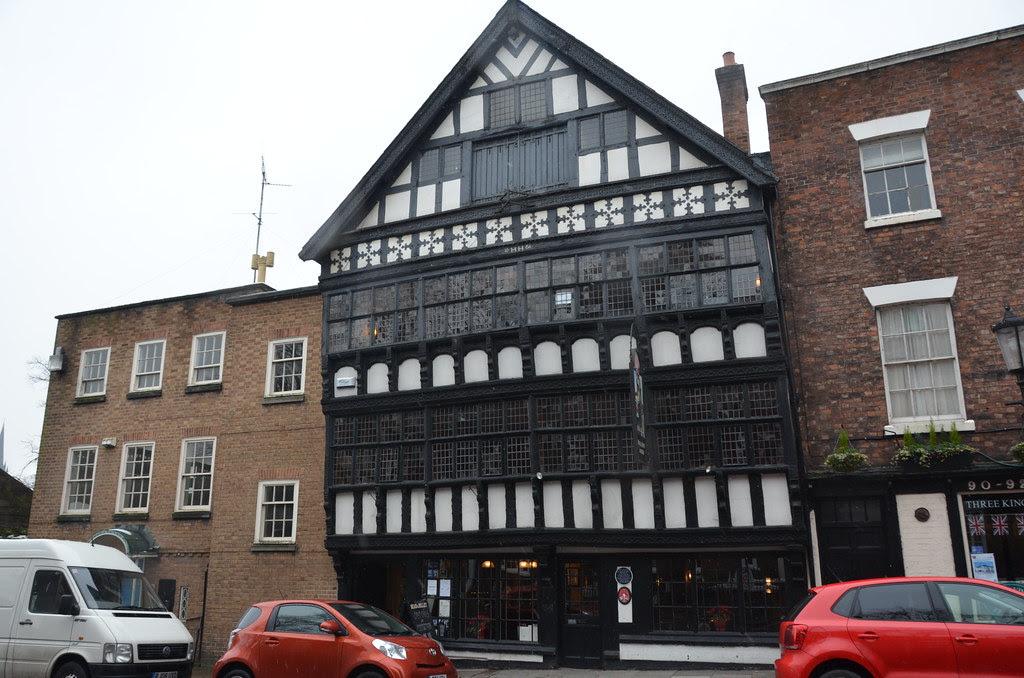 Chester - Bear & Billet & Three Façade Lower Bridge Street