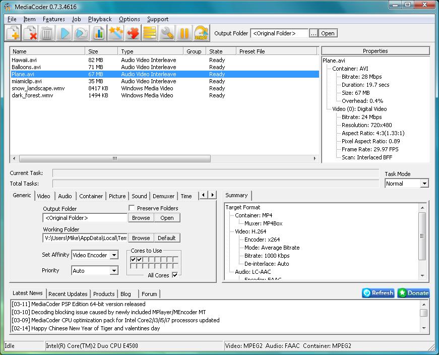 MediaCoder 0.8.22.5500
