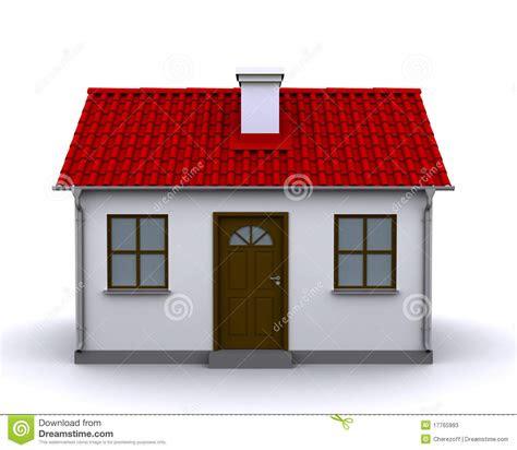 petite maison vue de face photo stock editorial