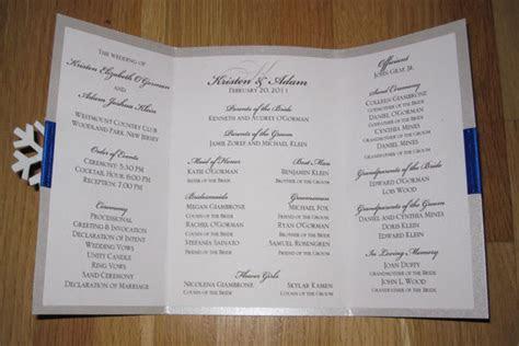 DIY We Love: Winter Wedding Ceremony Program   BridalGuide