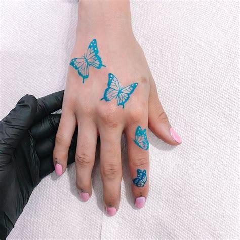 blue butterfly tattoo whoaakat twitter
