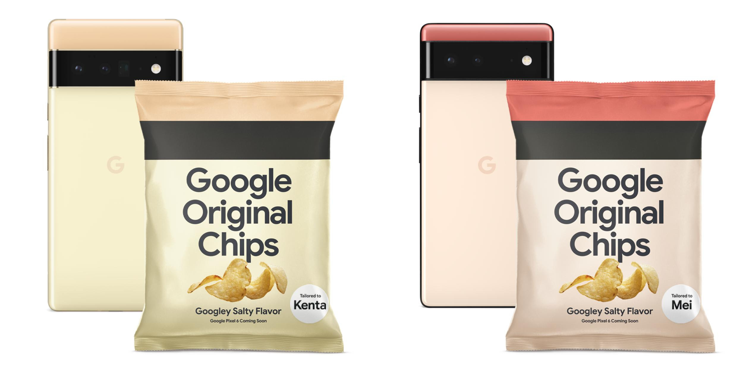 Google hypes the Pixel 6 in Japan with bag of 'Google Original [Potato] Chips'