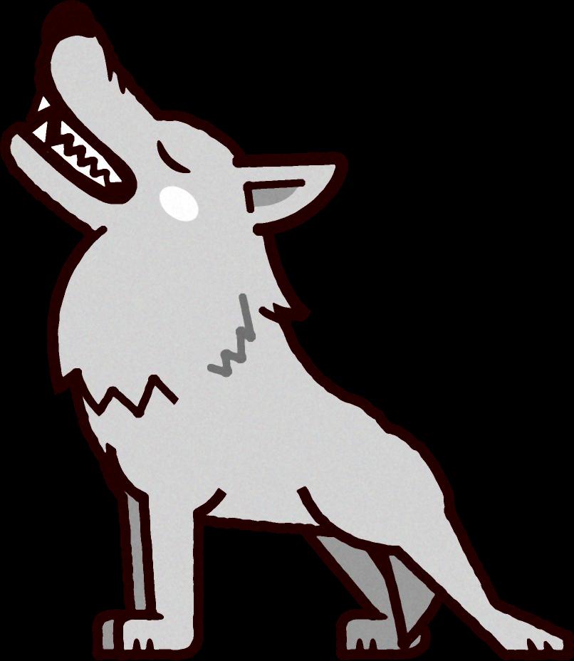 オオカミのイラストwolf動物素材のプチッチ