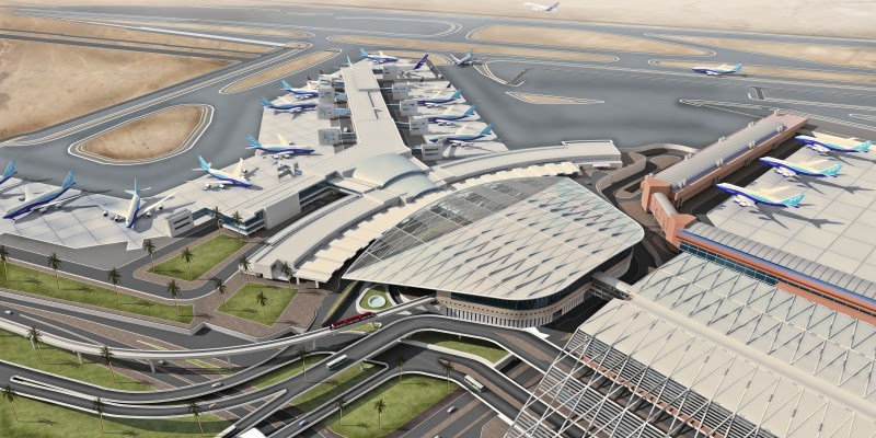 Renders for renovated Terminal 2, Cairo International Airport, Egypt