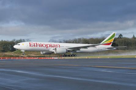 Ethiopian 777-200LR at Everett