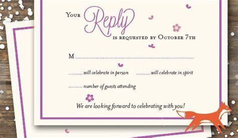 Wedding RSVP Wording Ideas and Format   2017 Edition   RSVPify