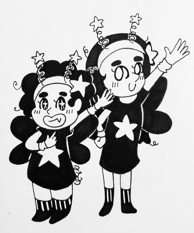 Oct. 6 - Steven Universe and Connie Maheswaran from Steven Universe, dressed as fairies.