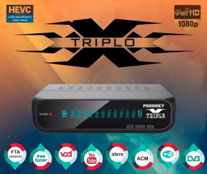 FREESKY TRIPLO X NOVA ATUALIZAÇÃO V20436 - 27/03/2019
