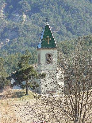 église près de Castellane
