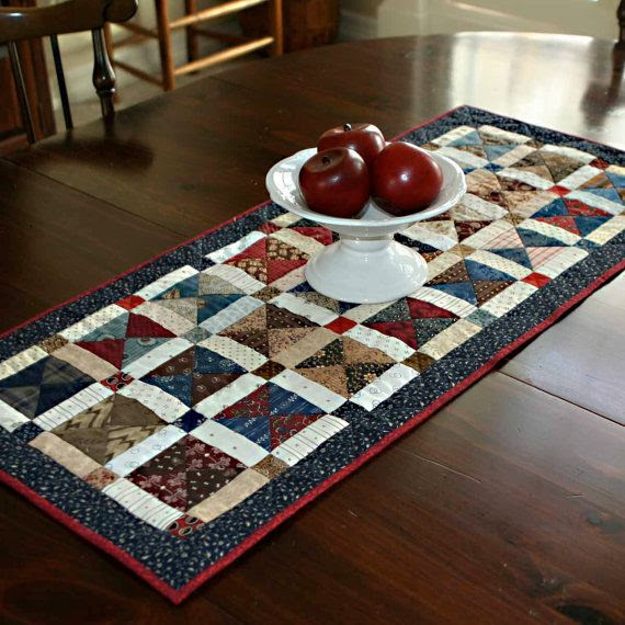 Broken Dishes Table Runner by PetitQuilts