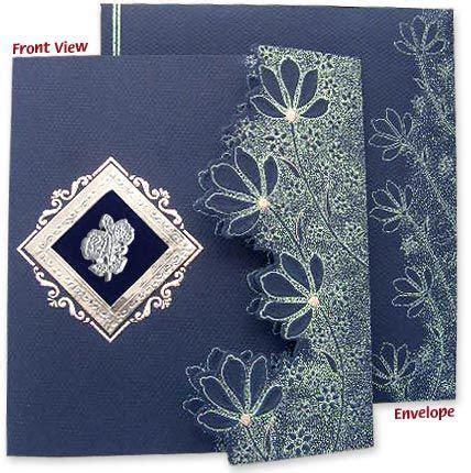 Latest die cut designer wedding card!   Designer Wedding
