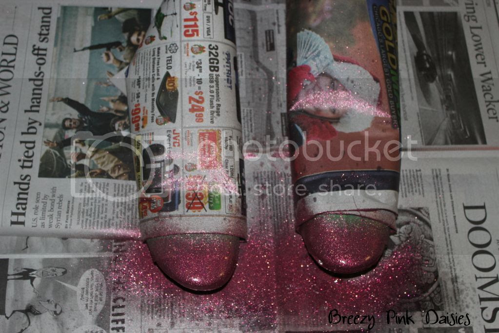 Pink Glitter Color Block Shoes - step 2