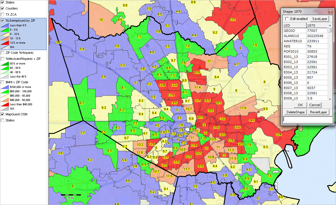Zip Code Map Of Houston Area | World Map