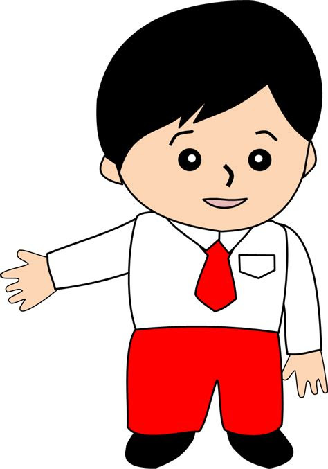 anak sd kartun png  png image