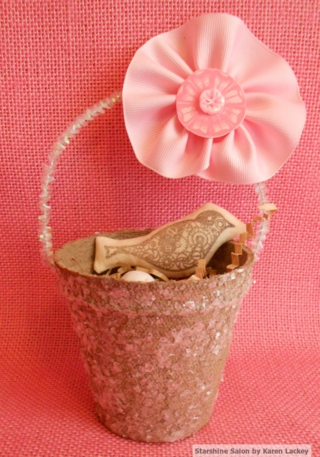 Peat pot Easter basket 2