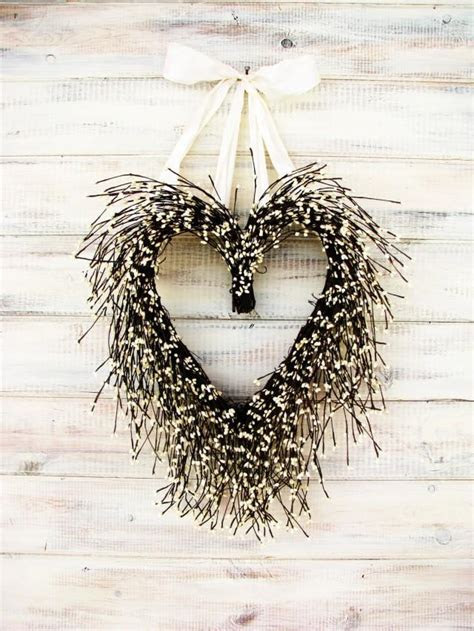 Valentine Wreath Wedding Wreath Heart Wreath Wedding Decor