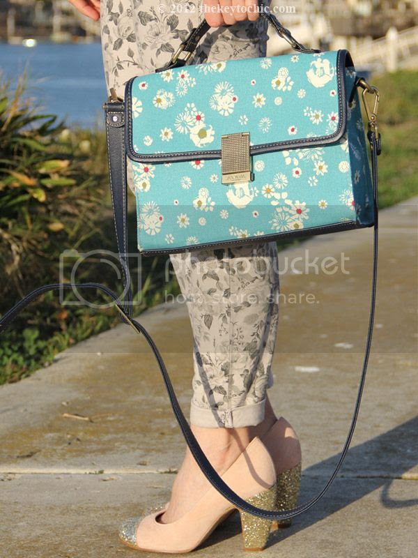 Jason Wu for Target floral flap handbag, J Brand floral jeans in sugar cane, Topshop Jamaica glitter pumps, southern California street style, Los Angeles fashion blogger