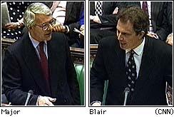 John Major og Tony Blair