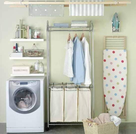 Small shelves laundry room design ideas
