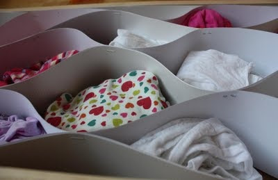 Sock-drawer organizing