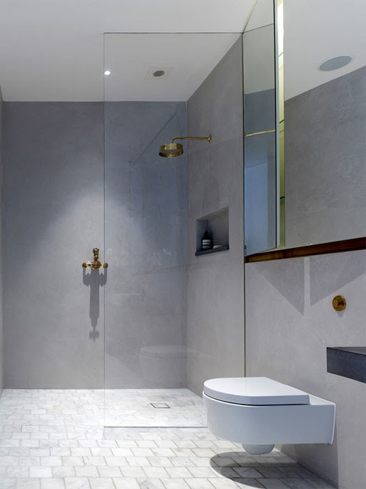 Incredible tile-less bathrooms: add luxe using an ancient ...
