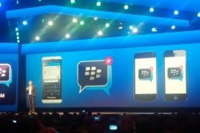 Thorsten Heins, PDG de BlackBerry présente les applications BBM sur Android et iOS