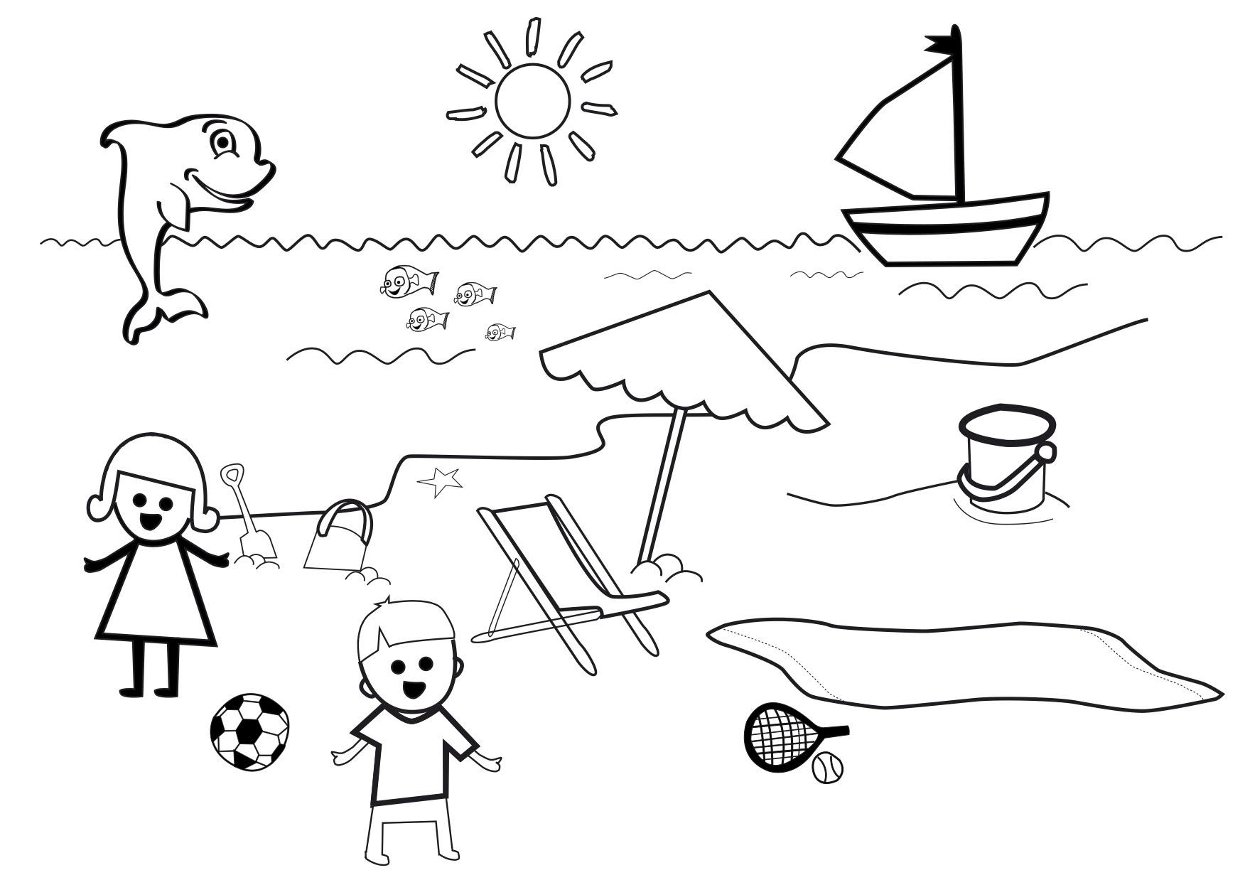 56 Dibujos De Playas Para Colorear Oh Kids Page 1