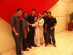 Gubra - Alan, Sharifah and Yasmin, with mX Crew