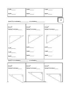 Unit Circle and Special Right Triangle Flip Book Project | Special ...