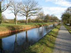 The canal's often straight as an arrow