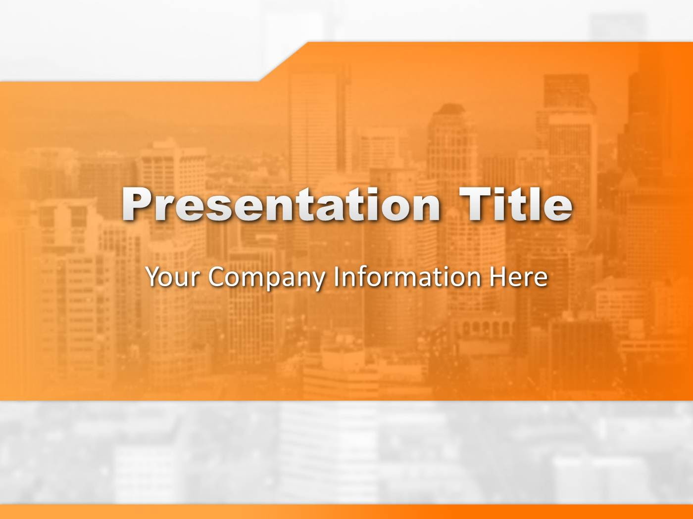 Orange Business Powerpoint Template Powerpoint Presentation Ppt