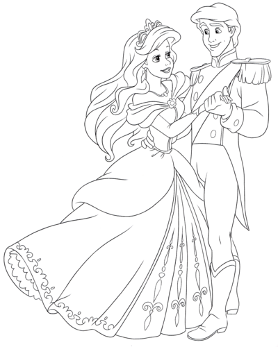 Prince Eric Coloring Pages at GetDrawings | Free download
