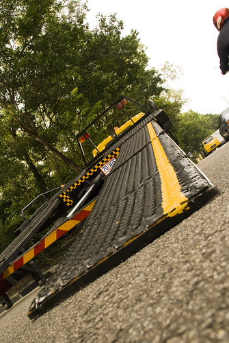 Steer Up the Yellow Line of the Tow Truck