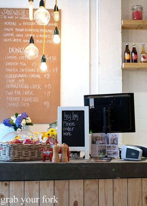 counter at fika swedish kitchen cafe manly