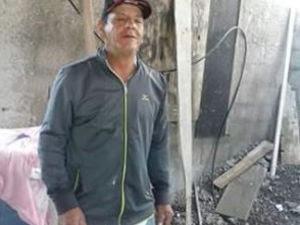 Suspeito fugiu do local após matar a esposa e escrever recado no chão em Praia Grande (Foto: Reprodução / Facebook)