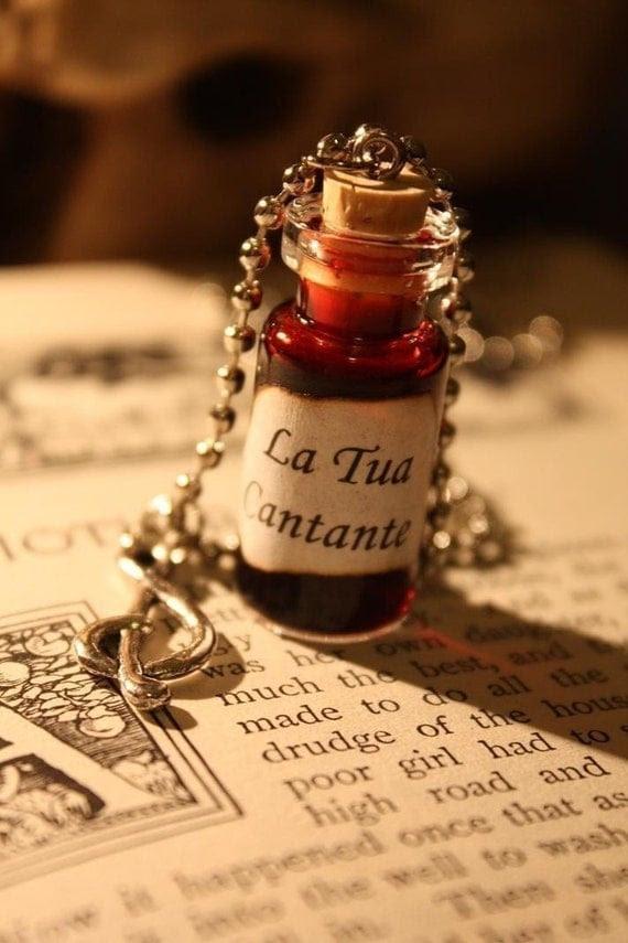 ON SALE Glass Vial Necklace - La Tua Cantante