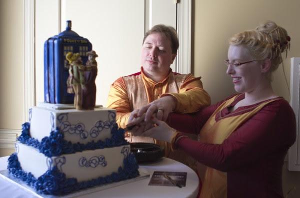 Gallifreyan Wedding Cake