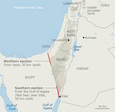 Map - Israel/Egypt barrier