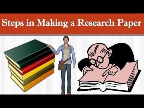 What are Steps in Writing Research Paper